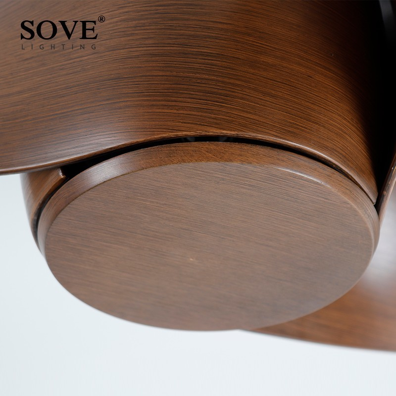 SOVE Brown Vintage Առաստաղի երկրպագու - Ներքին լուսավորություն - Լուսանկար 6