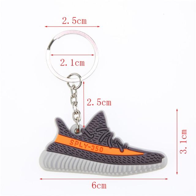 Mini Silicone BOOST 350 V2 Shoes Keychain Bag Charm Woman Men Kids Key Ring Key Holder Gift SPLY-350 Chic Sneaker Keychain 5