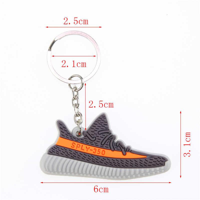 Mini silicone boost 350 v2 sapatos chaveiro saco charme mulher dos homens crianças chaveiro chaveiro presente SPLY-350 chique sapatilha chaveiro
