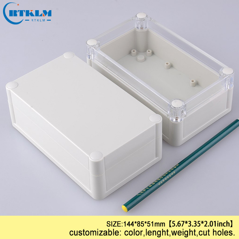 Waterproof electronic project box IP68 ABS plastic instrument enclosure diy transparent seal wire connectors box 144*85*51mm