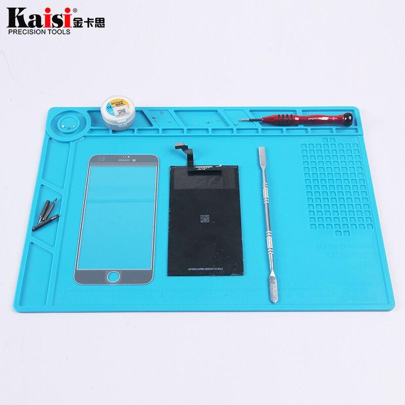 S-140 34x25 cm Ensembles D'outils À Main Haute température résistant BGA de réparation silicone isolation pad