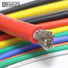 5 metro vermelho + 5 metro cor preta fio de silicone 8awg 10awg 12awg 14awg 16awg silicone macio à prova de calor fio de gel de silicone conectar cabo