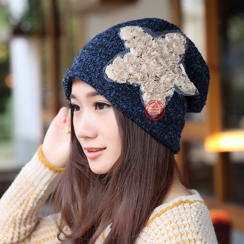hot wholesale women beautiful star fashion beanies fitted woman girl casual winter hat spring summer outdoor skullies gorros fashion handpainted palm sea sailing pattern hot summer jazz hat for boys