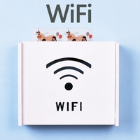 DIY Free Punch WIFI Storage Box Clover WIFI Smile Face Cat Home Leisurely Life Precise Home