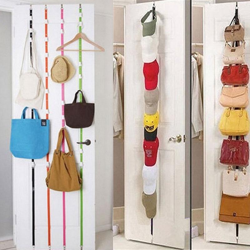 Popular Adjustable Over Door Straps Hanger Straps Hat Bag Clothes Rack Organizer Storage Holders Hanger