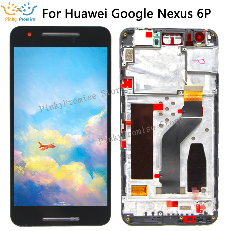 original Black For 5 7 Huawei Google Nexus 6P LCD Display Touch Screen Digitizer with Frame