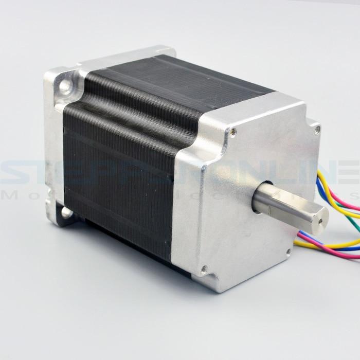 Nema 34 Stepper Motor 8.5Nm/1204oz.in 5A 4-wire 14mm Dual Shaft DIY CNC Mill Lathe Router