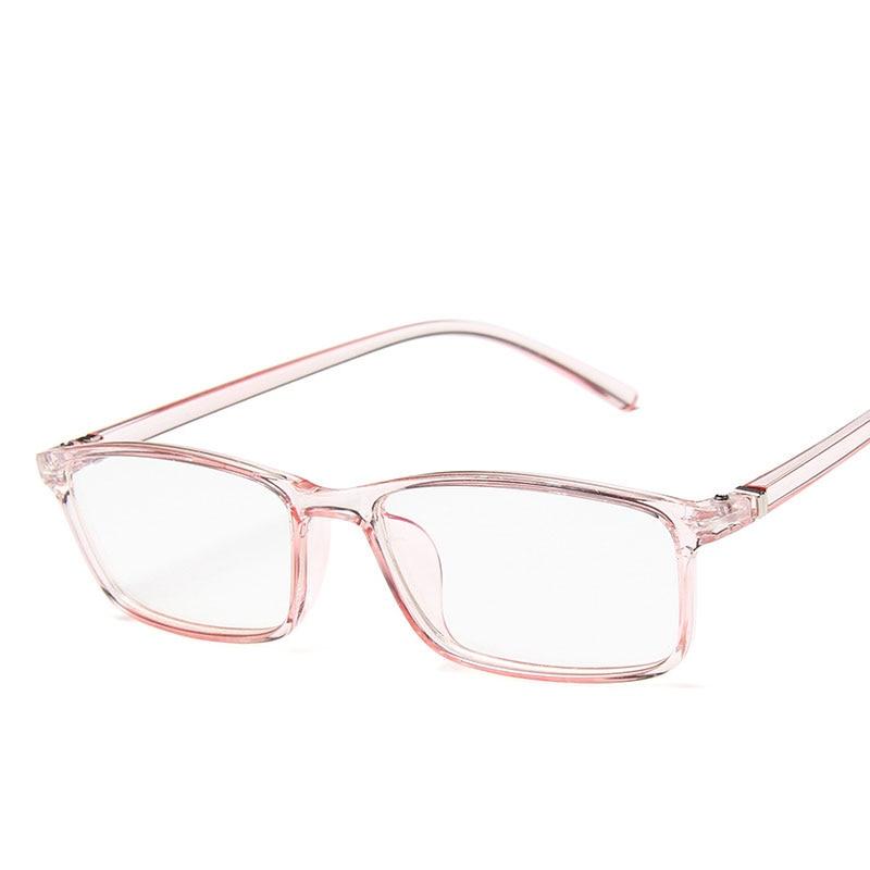 Small Frame Women Eyeglasses Glasses Frame Fashion Transparent Color Square Eyeglasses Frame Plus UV Blue Film