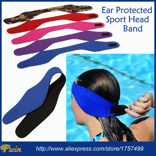 Women Men Kids Bathing Swimming Ear Band Hair Headband Protector Watersport Neoprene Wetsuit Sport