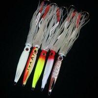 1 Pcs Lot Squid Jig Baits 17 Cm 55 G Metal Jig Lures Night Fishing Lures