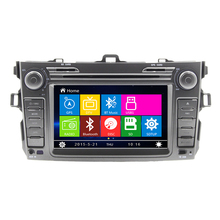 "7"" Car Radio DVD Player GPS Navigation Central Multimedia stereo for Toyota Corolla 2012 with bluetooth free map free shipping"