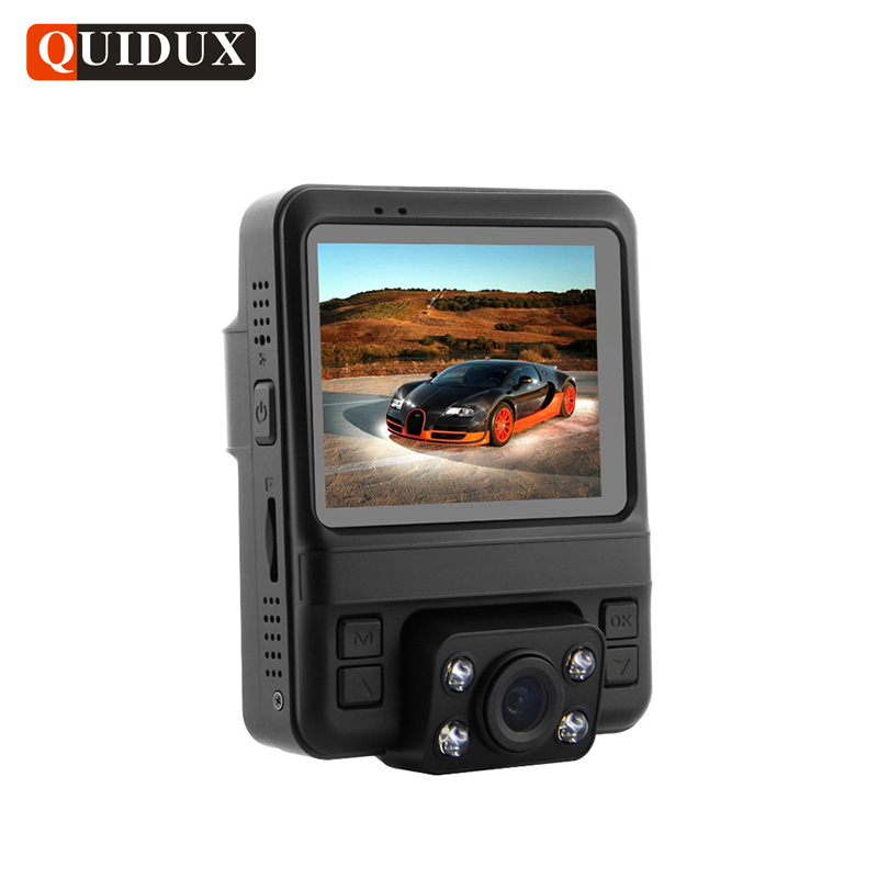 QUIDUX Super HD 1296P Car DVR Night Vision Dual Camera Novatek96655 GPS Auto Video Recorder Super Dash Cam 150 Degree Angle Lens овальный купить ковры ковер super vision 5412 bone овал 3на 5 метров