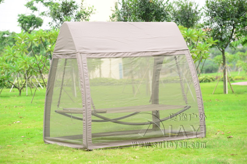 Patio leisure luxury durable iron garden swing chair outdoor sleeping bed  hammock with gauze and canopy - Compare Prices On Patio Canopy Bed- Online Shopping/Buy Low Price