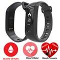 Oxímetro de pulso de Oxigênio no sangue de Banda Inteligente M2 Smartband Pedômetro Monitor De Freqüência Cardíaca Do Bluetooth Pulseira de Pulso Para iOS Inteligente Android