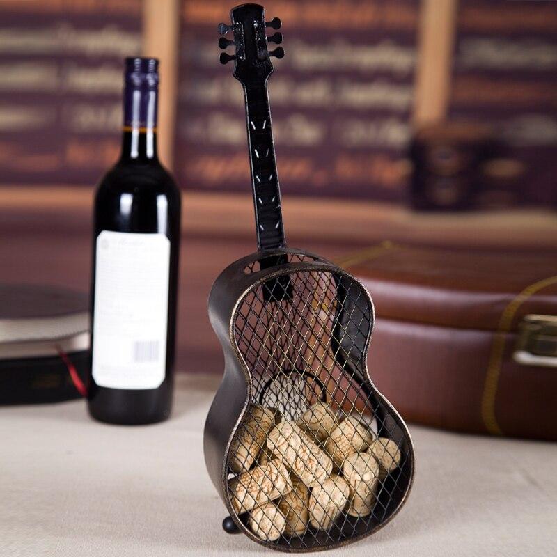 Rétro fait à la main fer Art guitare stockage Rack décoratif en métal Instrument de musique organisateur boîte nouveauté ornement artisanat accessoires - 3