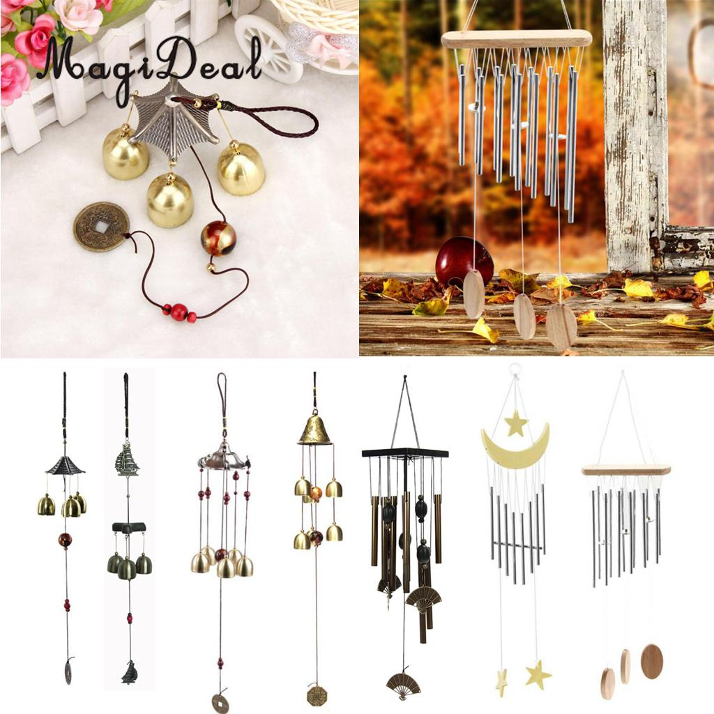 Big Bells// Tubes Lucky Bells Oriental Wind Chime Outdoor Garden Hanging Decor