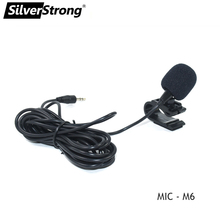 SilverStrong 1Pc 50Hz 20 kHz 전문 3.5mm 외부 마이크 차량용 DVD 플레이어 마이크 블루투스 핸즈프리 전화