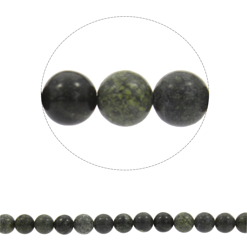 YYW Russian Serpentine Beads,Sexy jewelry, Round, natural, different size for choice Sold Per Approx 15 Inch Strand ...