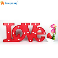 AKDSteel 3D LOVE Romantic Indoor Decorative Wall Night Lamps Marquee Letter LED Night Light Home Christmas Decoration
