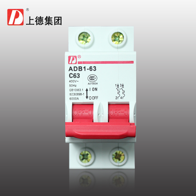 On Tak ADB1 2P/C63 household circuit breaker double pole air ...