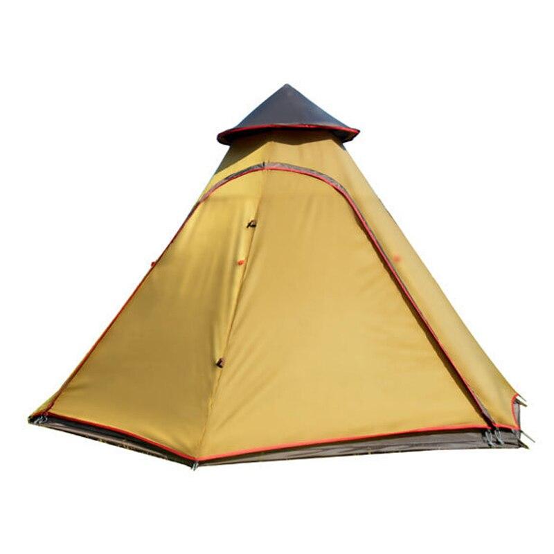 Tente de yourte mongole extérieure imperméable Double couche 6 Tipi de coin tentes indiennes tente de Tipi pour Camping tente 5 personnes