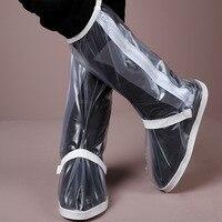 Scarpe parapioggia bordo ispessimento fondo scarpa impermeabile di copertura In Magazzino Moto Impermeabile Pioggia Boot Covers, Gomma XXL