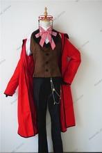 אנימה השחור באטלר מות Shinigami גרל Sutcliff קוספליי אדום אחיד תלבושת + משקפיים קרנבל ליל כל הקדושים תלבושות עבור נשים גברים