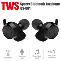 US001 Mini TWS Wireless Bluetooth 4.2 Earphone Stereo Earbuds Headset w/Mic Binaural Noise Reduction