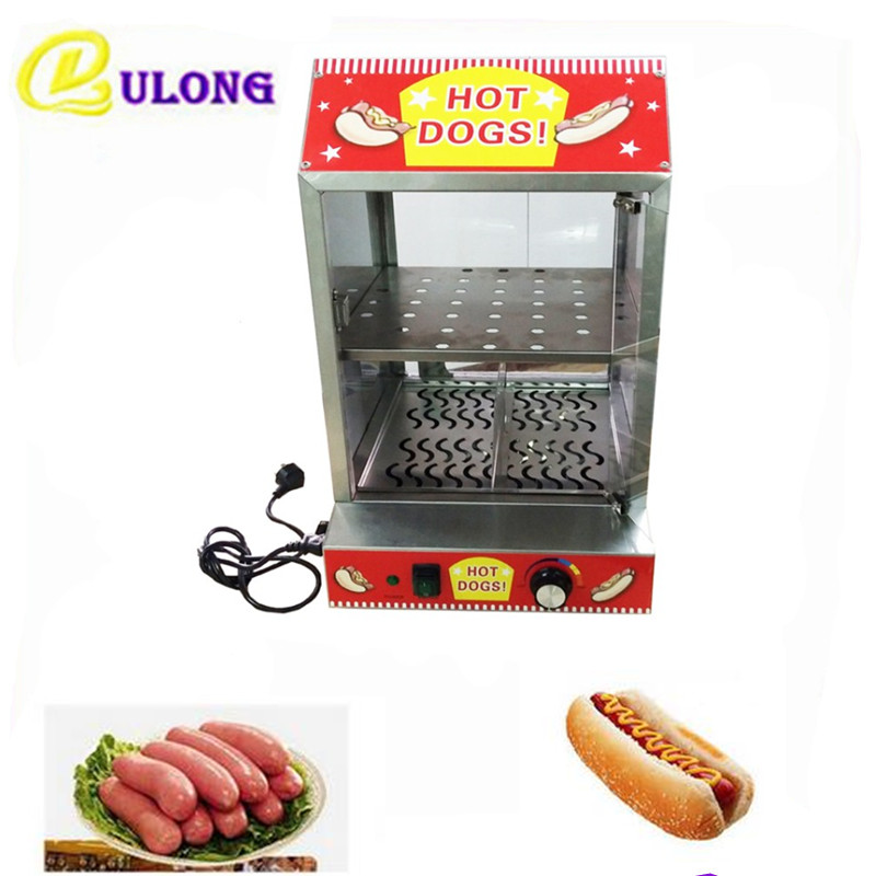 Electric Stainless Steel Hot Display Showcase Mini Bread Steamer Commercial Heating Equipment Tool
