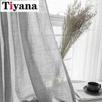 Jesteś ana cortina para janela  cortina branca simples em cor lisa cinza  de algodão  macia  para sala de estar zh016x