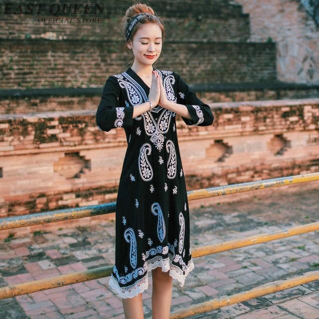d1a57eb55 Women Boho chic mexican dress hippie ethnic style dress clothing bohemian  holiday beach female sexy dresses DD1051 Y