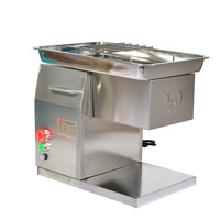 QX 110V/220v Electric Meat Slicer Desktop Type Meat Cutter Stainless Steel Commercial Meat Cutting Machine 250kg/H