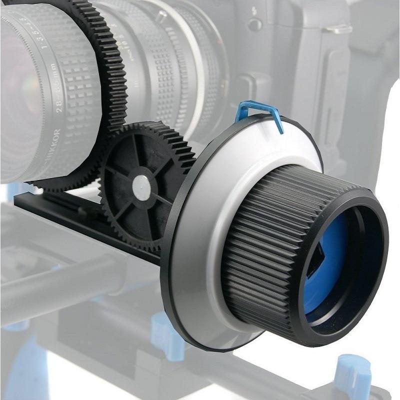 Quick Release Clamp F1 DSLR Follow Focus FF with Adjustable Gear Ring Belt for 15mm Rod Rig 60D 600D 5D2 GH2 D7000 varavon plastic 5d2 adjustable sling follow focus ring for slr camera black