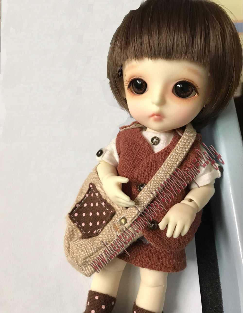 1/8chouchou boneca BJD boneca da moda BJD bonito, menina com olhos pequeno presente