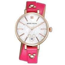 Disney бренда женские часы Микки Женщины кварцевые 30 м водонепроницаемый женщины Кожа наручные часы
