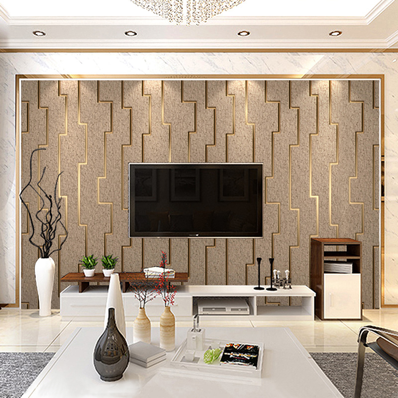 3D Striped Non-woven Wallpaper For Walls Roll Modern Living Room TV Background Wall Decor Wall Paper Bedroom Papel De Parede 3D