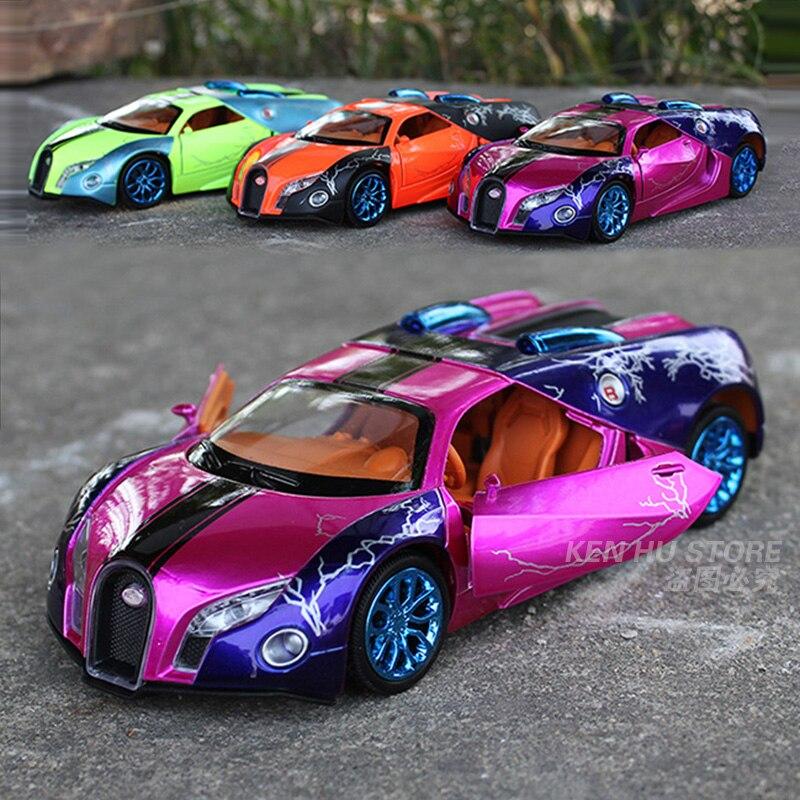 1:32 Colourful Bugatti GT kids toys cars model for ...