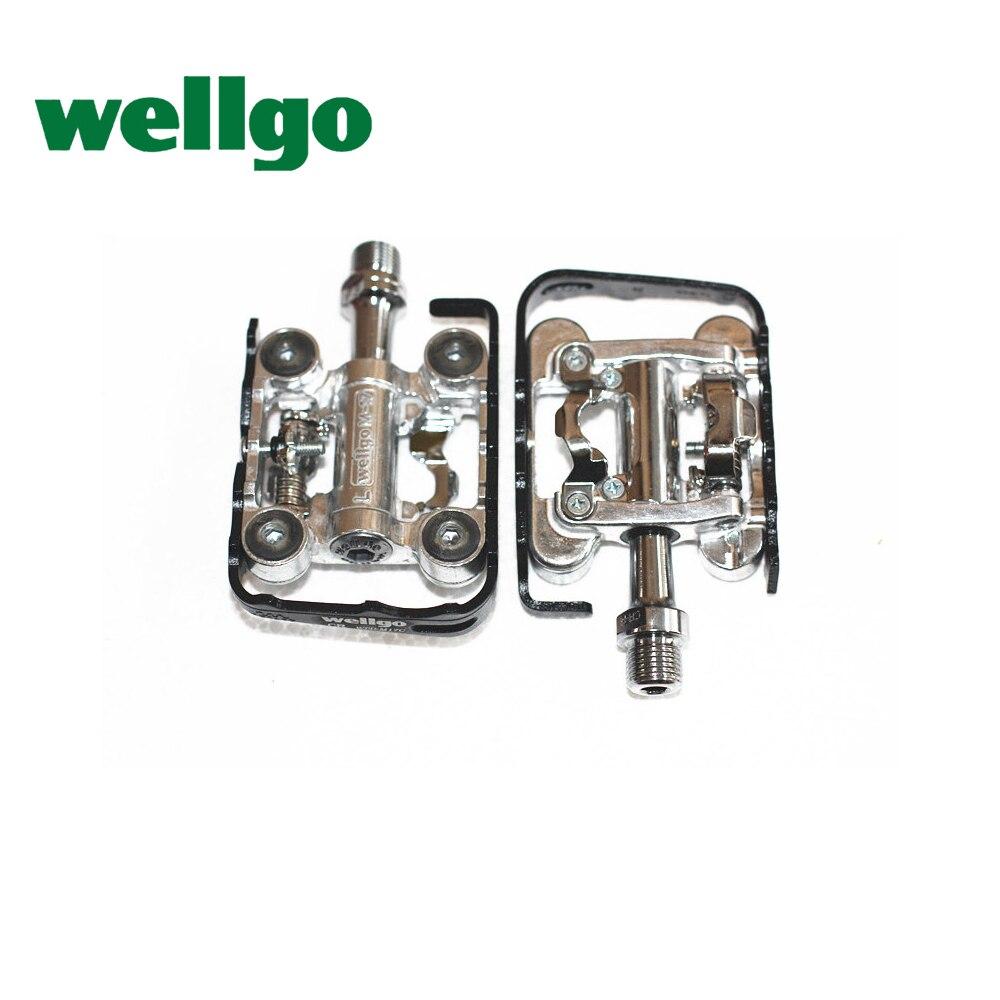 Wellgo pédale WPD-M17C pédales de vélo VTT deux faces double usage serrure étape serrure pédale vélo pièces
