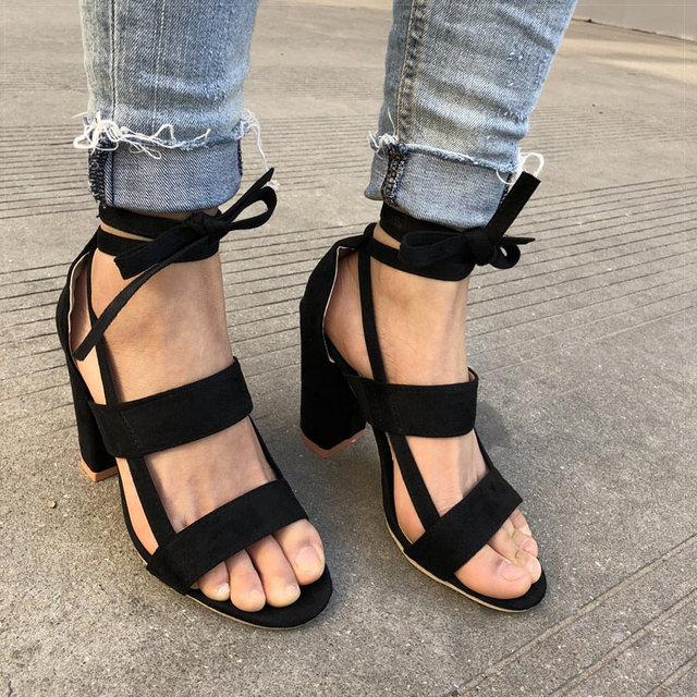 Women Sandals Sexy Gladiator High Heels Wedding Dress Shoes Summer Woman Valentine Heels Sandals Shoes Women Open Toe Sandals