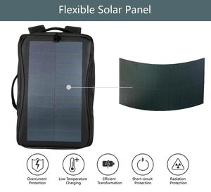 Image 5 - Haweel Flexible Solar Panel Backpacks Convenience Charging Laptop Bags for Travel 14W Solar Charger Daypacks &Handle &USB Port