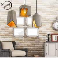 Industrial vintage concrete hanging lamp E27 LED Europe cement pendant light with 3 styles for kitchen restaurant cafe parlor