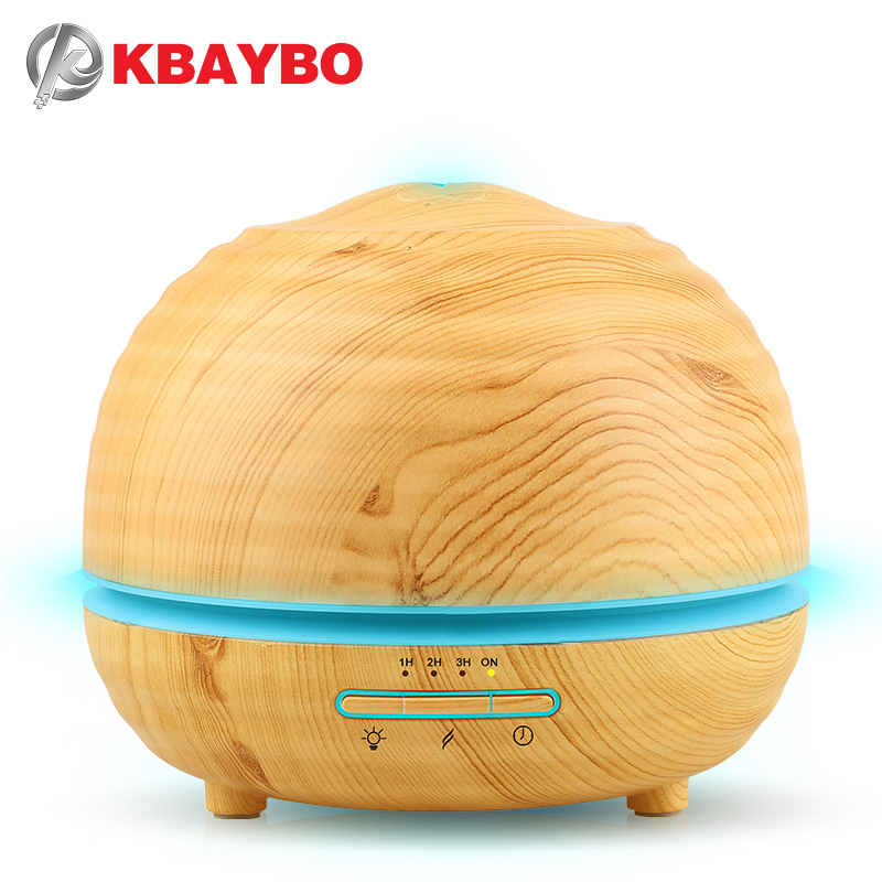 300ml Air Humidifier Essential Oil Diffuser Aroma Lamp Aromatherapy Electric Aroma Diffuser Mist Maker for Home-Wood 300ml new 300ml woodgrain essential oil aroma diffuser aromatherapy humidifier mist maker purifier 3 models