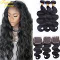 Peruvian Body Wave With Closure 7A Peruvian Human Hair Weave 3 Bundles With Closure Peruvian Virgin Hair Body Wave With Closure
