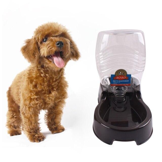 Automatic Pet Food Water Feeder Dish Bowl Pet Dog Cat Puppy Water Dispenser Food Dish Bowl Feeder Dark brown/ Coffee