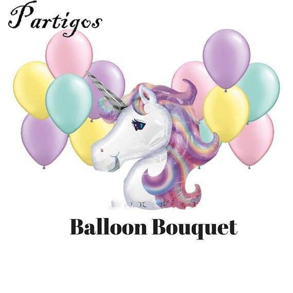 13 шт. большой 116 см Фиолетовый единорог Шарики 10 дюймов 2.3 г латекс Шарики одежда для свадьбы, дня рождения Декор гелиевых globoes Baby Shower