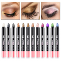 12 Colors Shimmer Waterproof Eyeshadow Pencil 1 PC Naked Smoky Eye Makeup Eye Shadow Pencil Bronzer Sombra