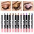 12 colores Shimmer impermeable Sombra de ojos lápiz 1 unid Naked maquillaje de ojos ahumado Sombra de ojos lápiz bronceador Sombra