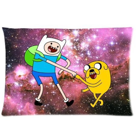 New Year Present Vintage Jake Finn Amazed Nebula Hipster Adventure Time for Room Zippered Cushion Case Pillowcase 50x75cm
