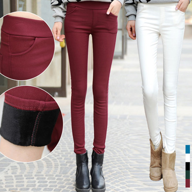 2018 women new pants capris pencil pants warm casual female  trousers elastic Autumn Winter fashion thick leggings dropshipping