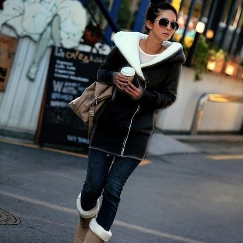 2018 Fashion Women Cotton Coat Winter Keep Warm Zipper Hoodied Jacket Long Sleeve Outdoor Ladies   Parkas   Cotton Coat #1016